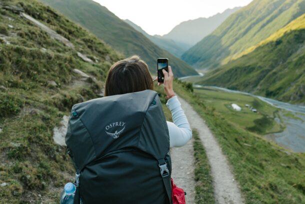 旅先でカメラ